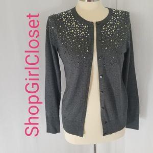 Merona Embellished Sweater...Grey...Size M